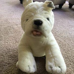 """Build-A-Bear White English Plush Bulldog, 14"""" BABW"""